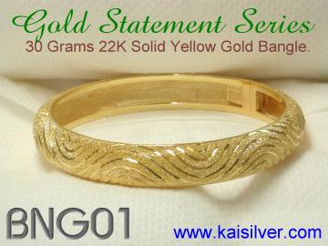 bangle gold or sterling silver custom made