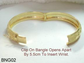 kaisilver bangle opens up for easy wear and take off