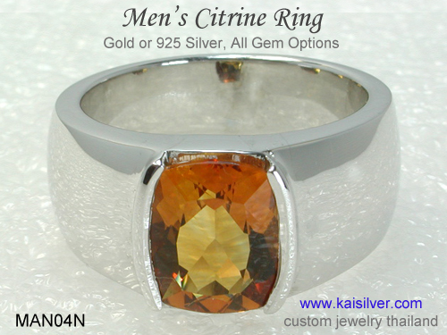 rings for men white gold