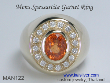 spessartite ring for men