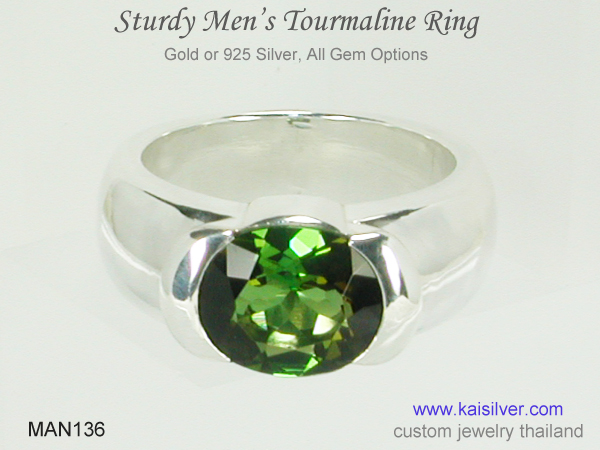 men's ring big gemstone