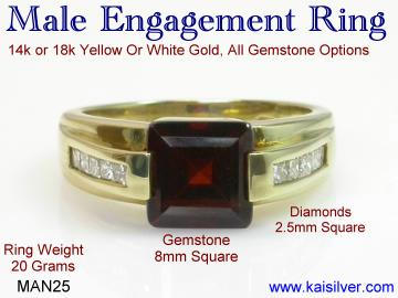 mens engagement and wedding ring