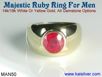 ruby gemstone ring for men