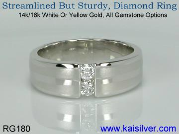 diamond gold rings, yellow or white gold