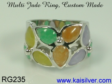 jade ring silver or gold